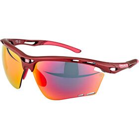 Rudy Project Propulse Okulary, merlot matte/multilaser red